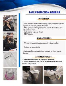 Face Shields English Brochure
